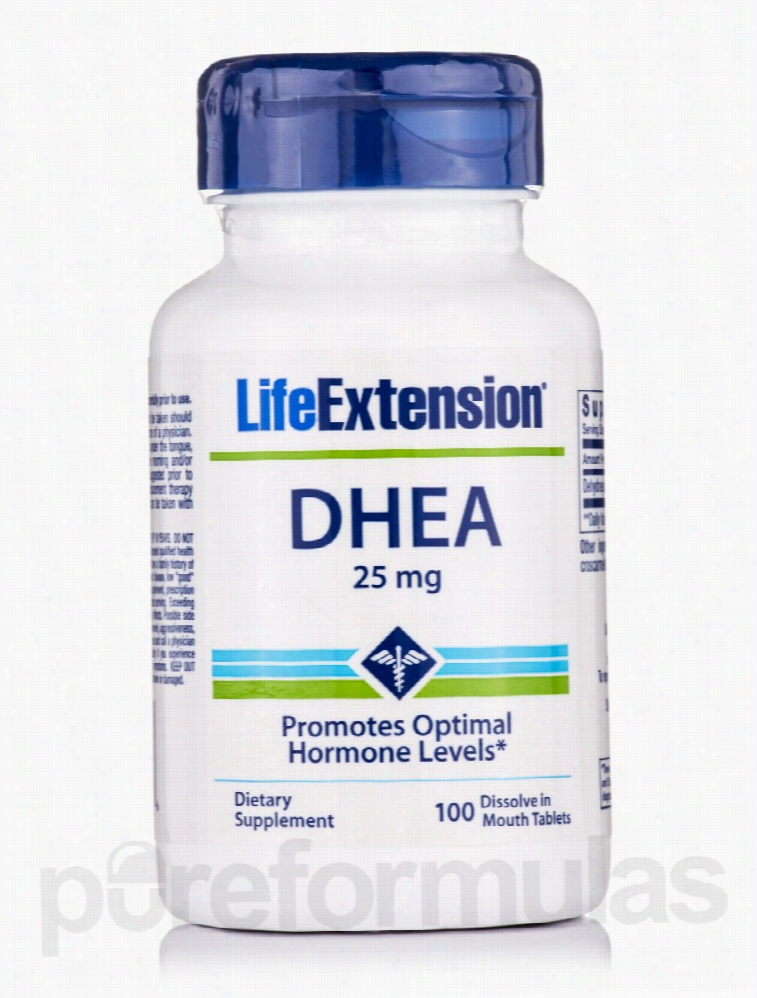 Life Extension Hormone/Glandular Support - DHEA (Disolve in Mouth) 25