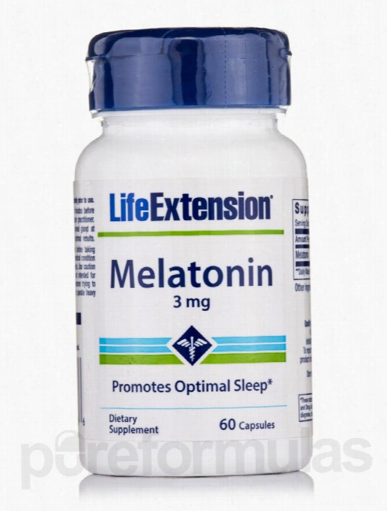 Life Extension Hormone/Glandular Support - Melatonin 3 mg - 60