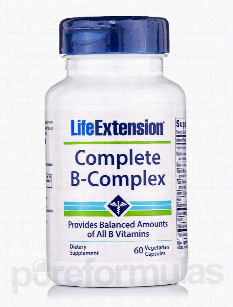 Life Extension Metabolic Support - Complete B-Complex - 60 Vegetarian