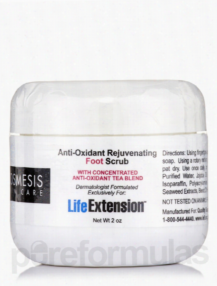 Life Extension Skin Care - Anti-Oxidant Rejuvenating Foot Scrub - 2 oz