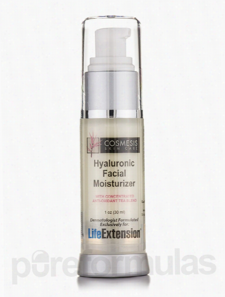 Life Extension Skin Care - Hyaluronic Facial Moisturizer - 1 oz (30