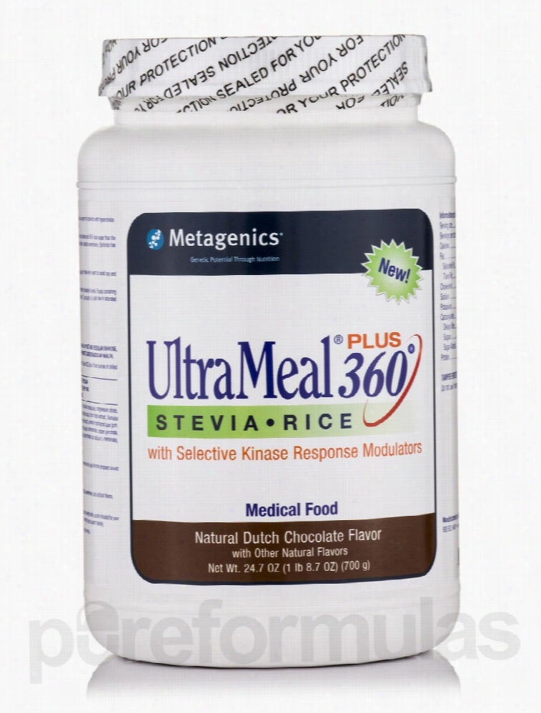 Metagenics Metabolic Support - UltraMeal Plus 360 Stevia RICE