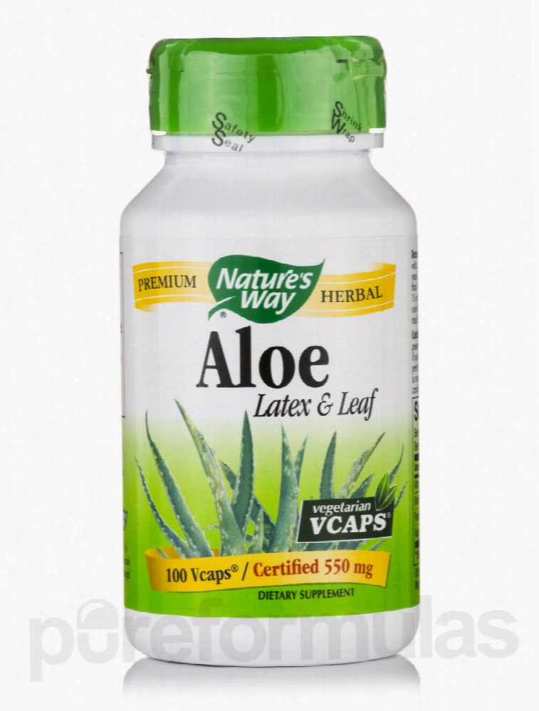 Nature's Way Cardiovascular Support - Aloe Latex & Leaf 550 mg - 100