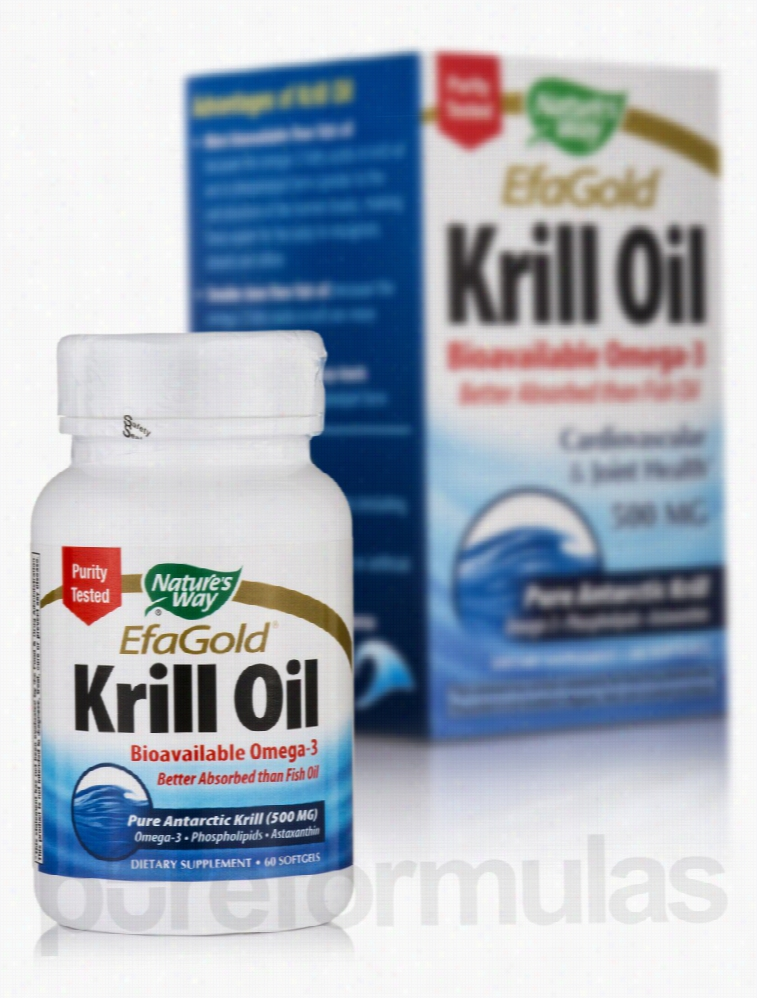 Nature's Way Cardiovascular Support - EfaGold Krill Oil 500 mg - 60
