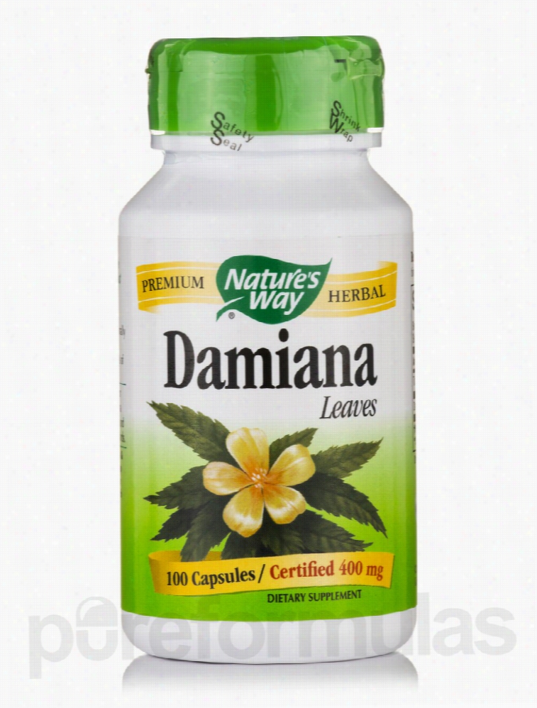 Nature's Way Herbals/Herbal Extracts - Damiana Leaves 400 mg - 100
