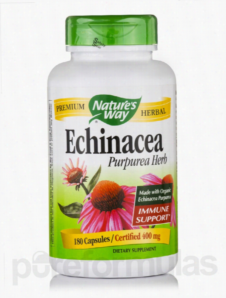 Nature's Way Immune Support - Echinacea Purpurea Herb 400 mg - 180