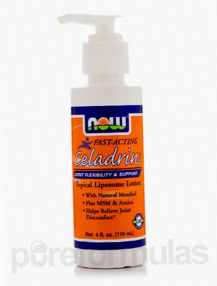 NOW Joint Support - Celadrin Topical Liposome Lotion - 4 fl. oz (118