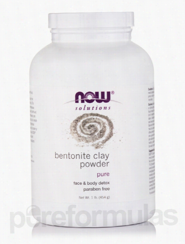 NOW Skin Care - NOW Solutions - Bentonite Clay Powder 100% Pure - 1