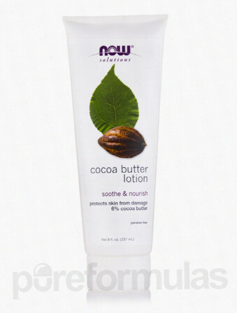 NOW Skin Care - NOW Solutions - Cocoa Butter Lotion - 8 fl. oz (237