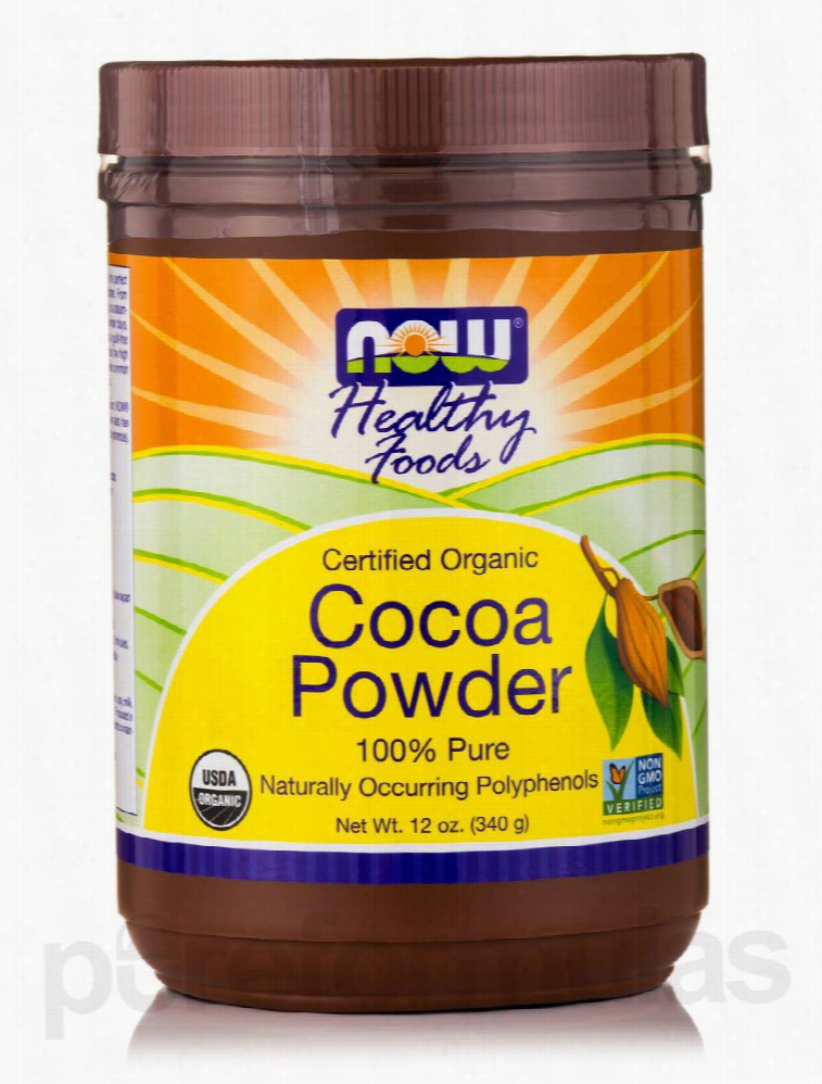 NOW Teas, Coffees and Beverages - Cocoa Powder (Organic) - 12 oz (340
