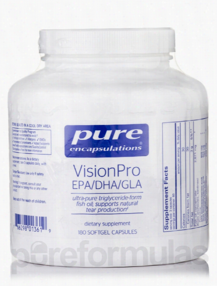 Pure Encapsulations Essential Fatty Acids - VisionPro EPA/DHA/GLA -