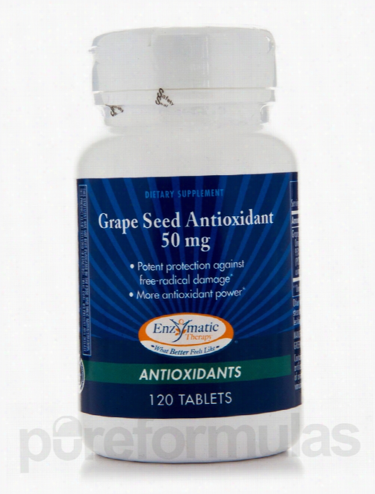 Enzymatic Therapy Cellular Support - Grape Seed Antioxidant 50 mg -