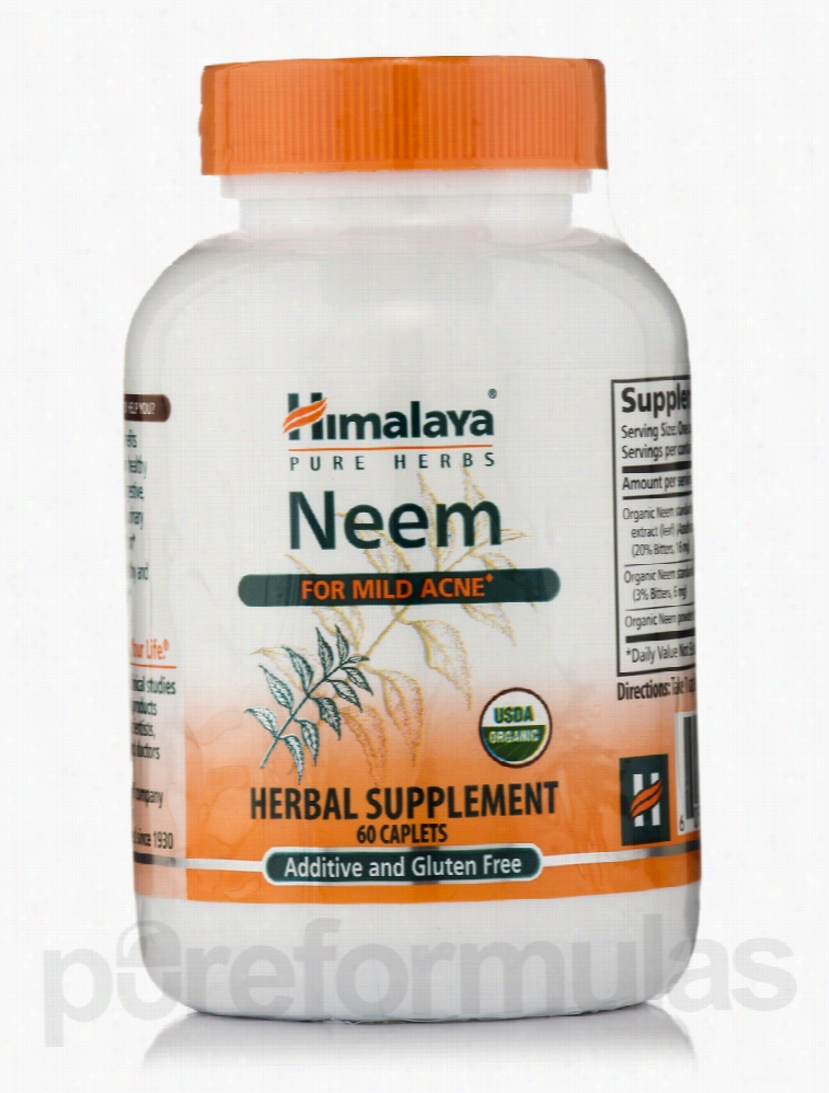 Himalaya Herbal Healthcare Herbals/Herbal Extracts - Neem - 60 Caplets