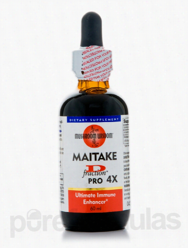 Mushroom Wisdom Immune Support - Maitake D-fraction PRO 4X - 60 ml
