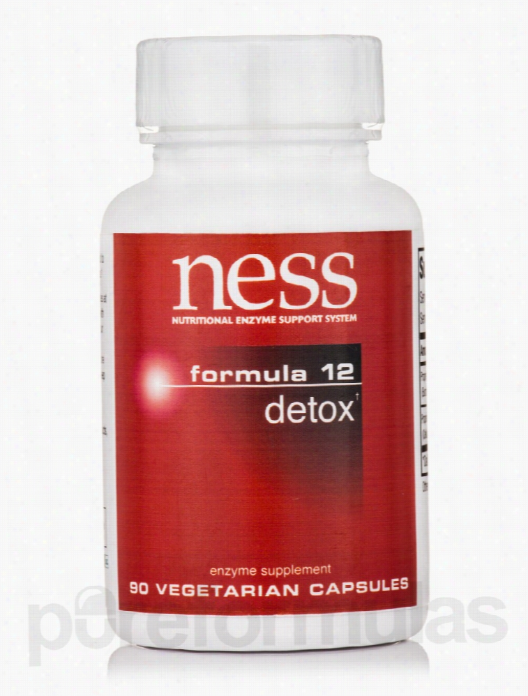 Ness Enzymes Detoxification - Detox (Formula 12) - 90 Vegetarian