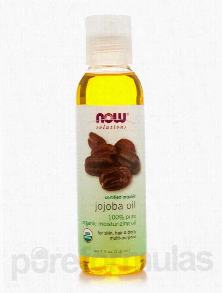 NOW Hair - NOW Solutions - Organic Jojoba Oil - 4 fl. oz (118 ml)