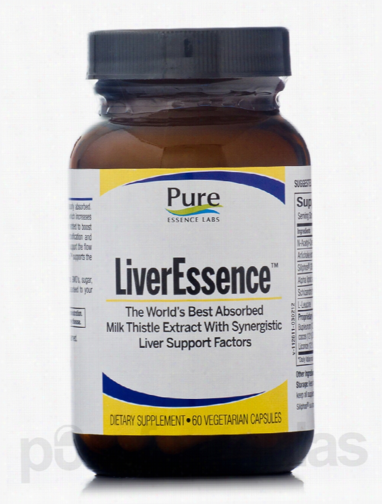 Pure Essence Labs Detoxification - LiverEssence - 60 Capsules