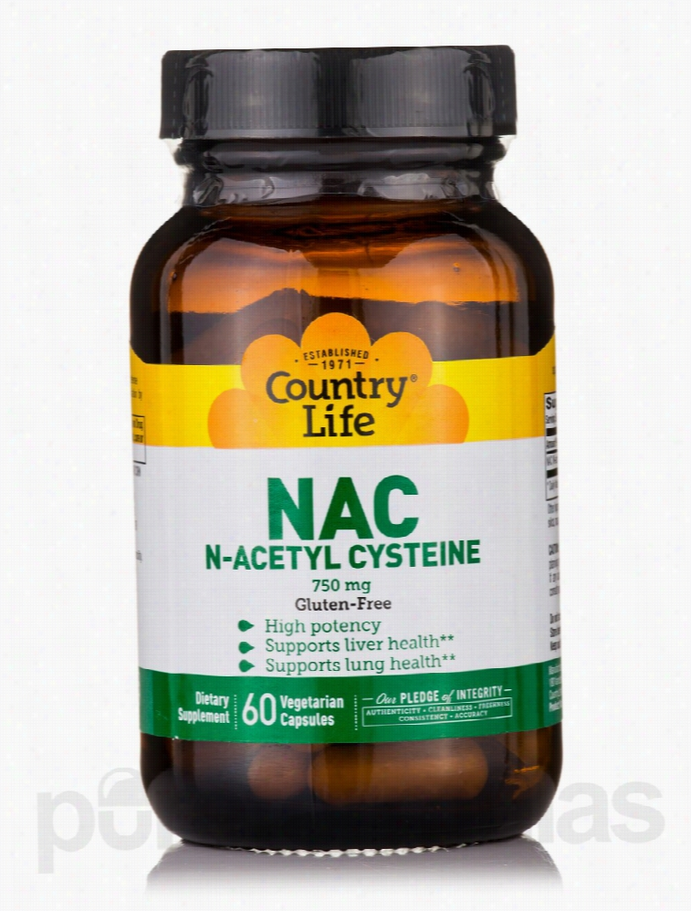 Country Life Cellular Support - NAC N-Acetyl Cysteine 750 mg - 60