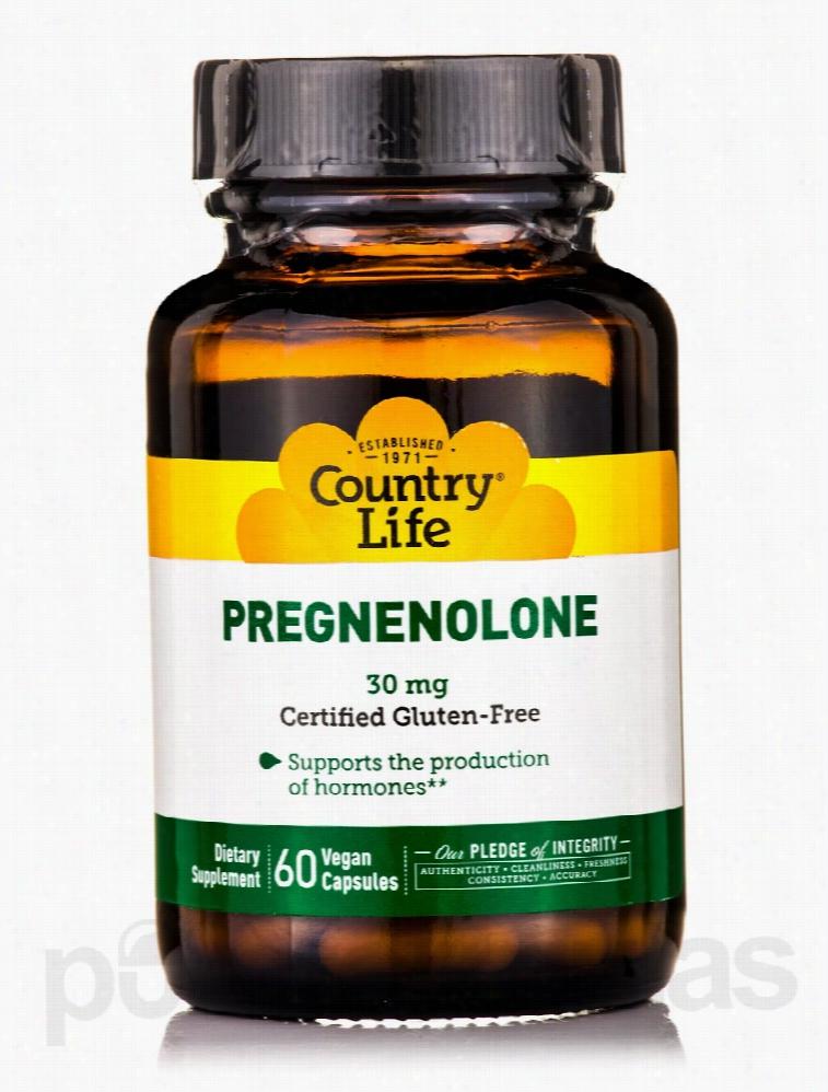 Country Life Hormone/Glandular Support - Pregnenolone 30 mg - 60 Vegan