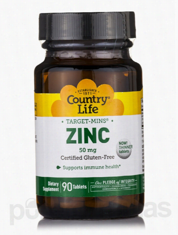 Country Life Immune Support - Target-Mins Zinc 50 mg - 90 Tablets