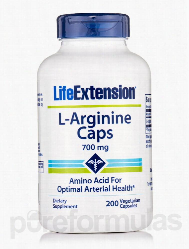 Life Extension Detoxification - L-Arginine Caps 700 mg - 200