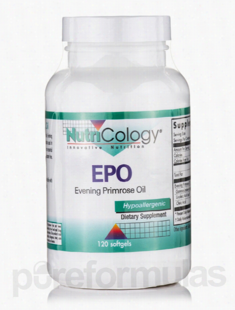 NutriCology Essential Fatty Acids - EPO (Evening Primrose Oil) - 120
