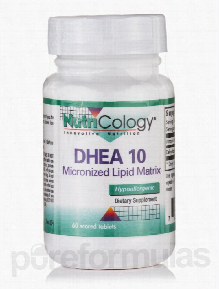 NutriCology Hormone/Glandular Support - DHEA 10 mg Micronized Lipid