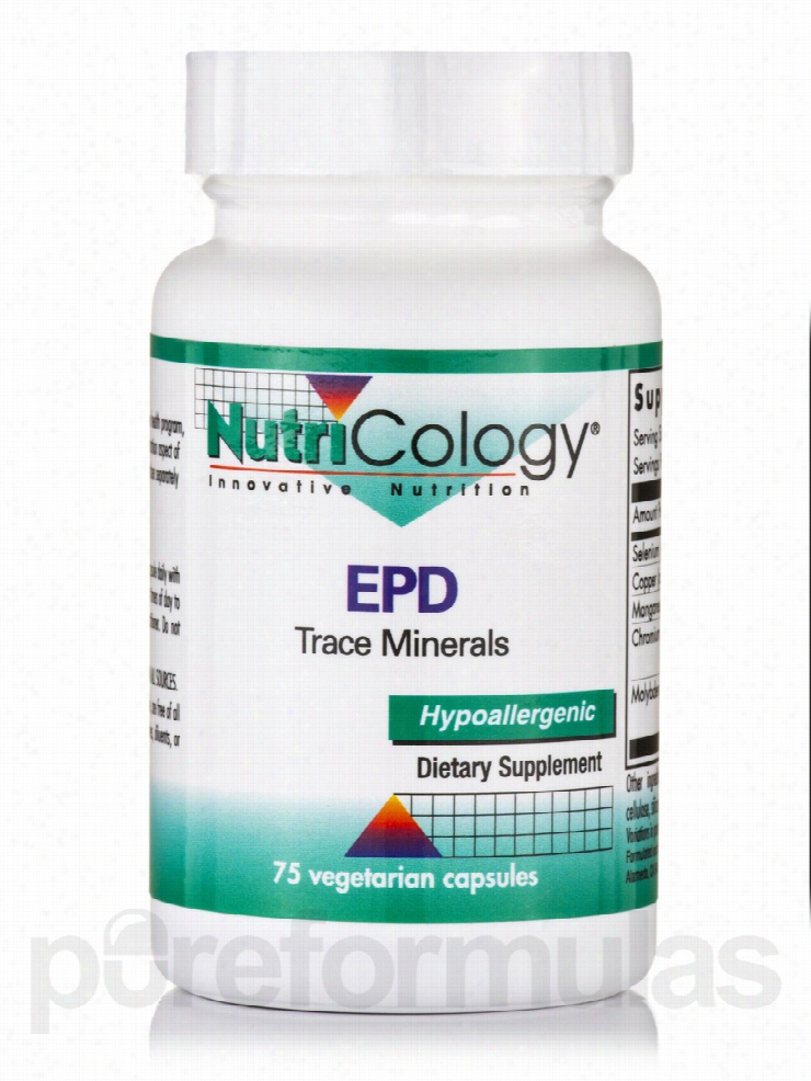 NutriCology Minerals - EPD Trace Minerals - 75 Vegetarian Capsules