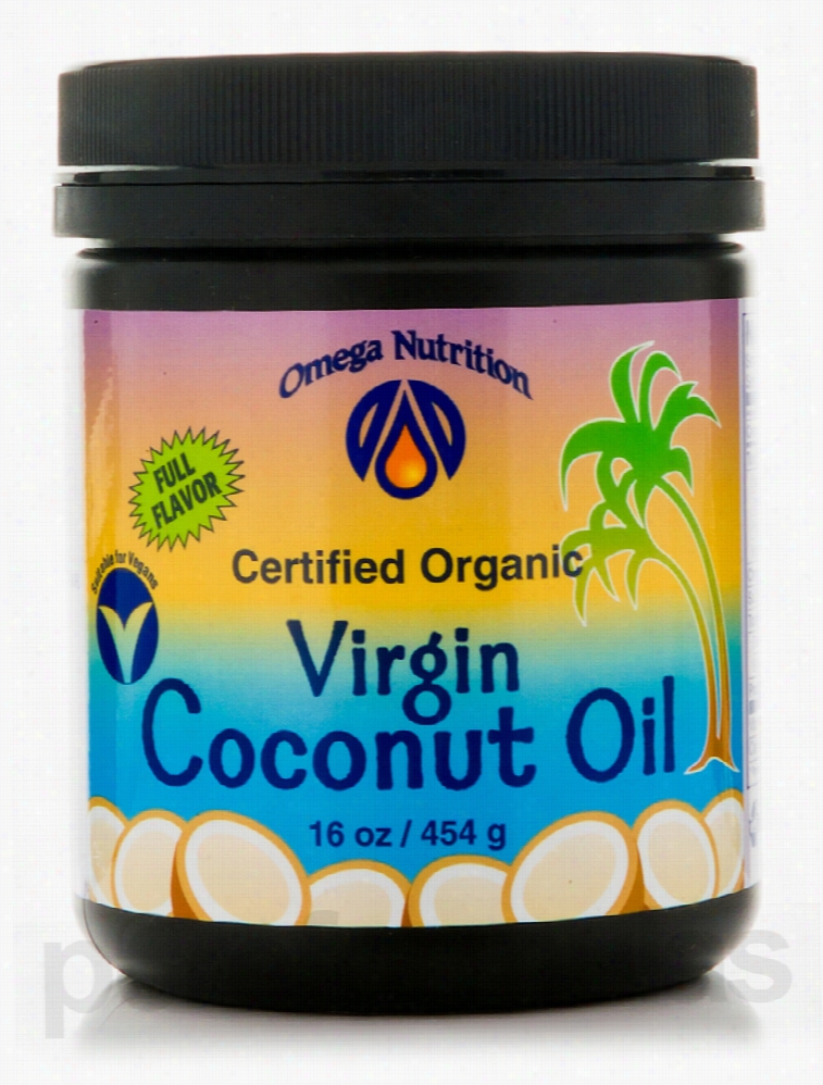 Omega Nutrition Baking and Cooking - Virgin Coconut Oil - 16 oz (454
