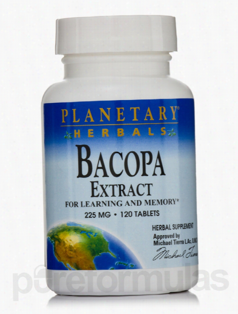 Planetary Herbals Cellular Support - Bacopa Extract 225 mg - 120