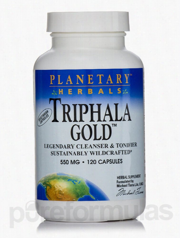 Planetary Herbals Detoxification - Triphala Gold 550 mg - 120