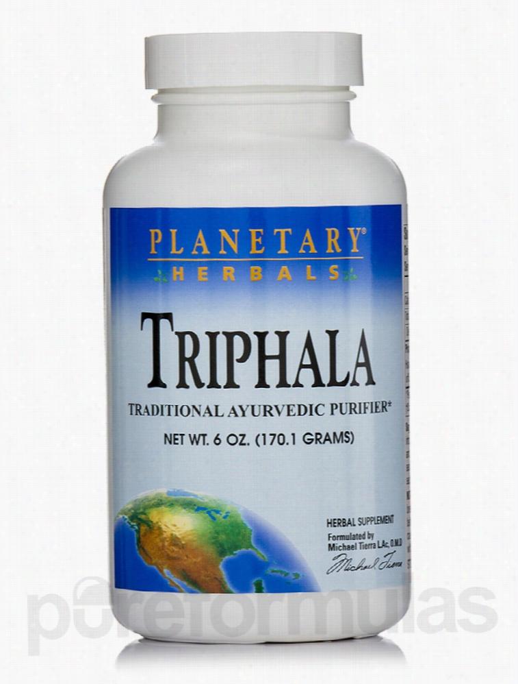Planetary Herbals Detoxification - Triphala Powder - 6 oz (170.1