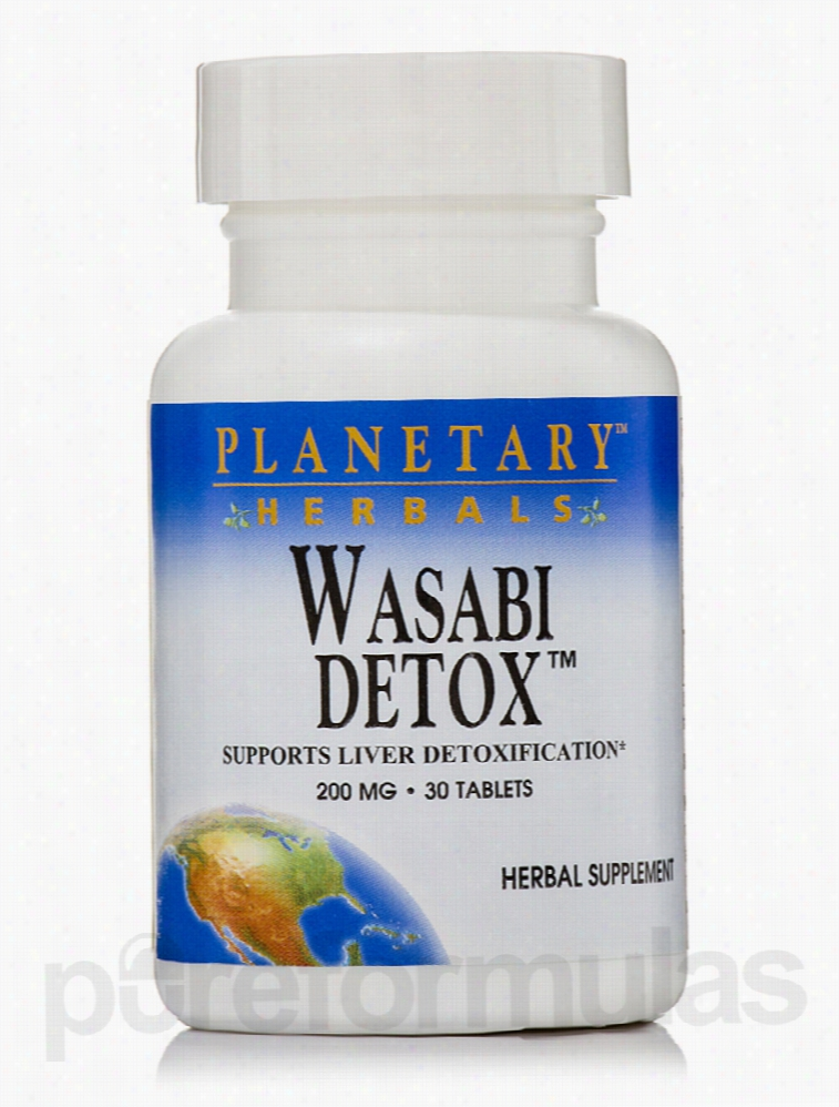 Planetary Herbals Detoxification - Wasabi Detox 200 mg - 30 Tablets