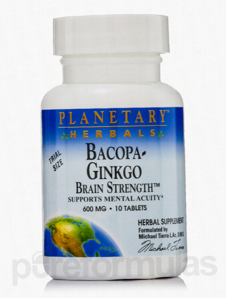 Planetary Herbals Herbals/Herbal Extracts - Bacopa-Ginkgo Brain