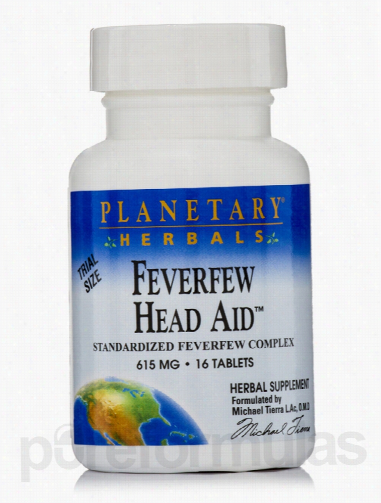 Planetary Herbals Herbals/Herbal Extracts - Feverfew Head Aid 615 mg -