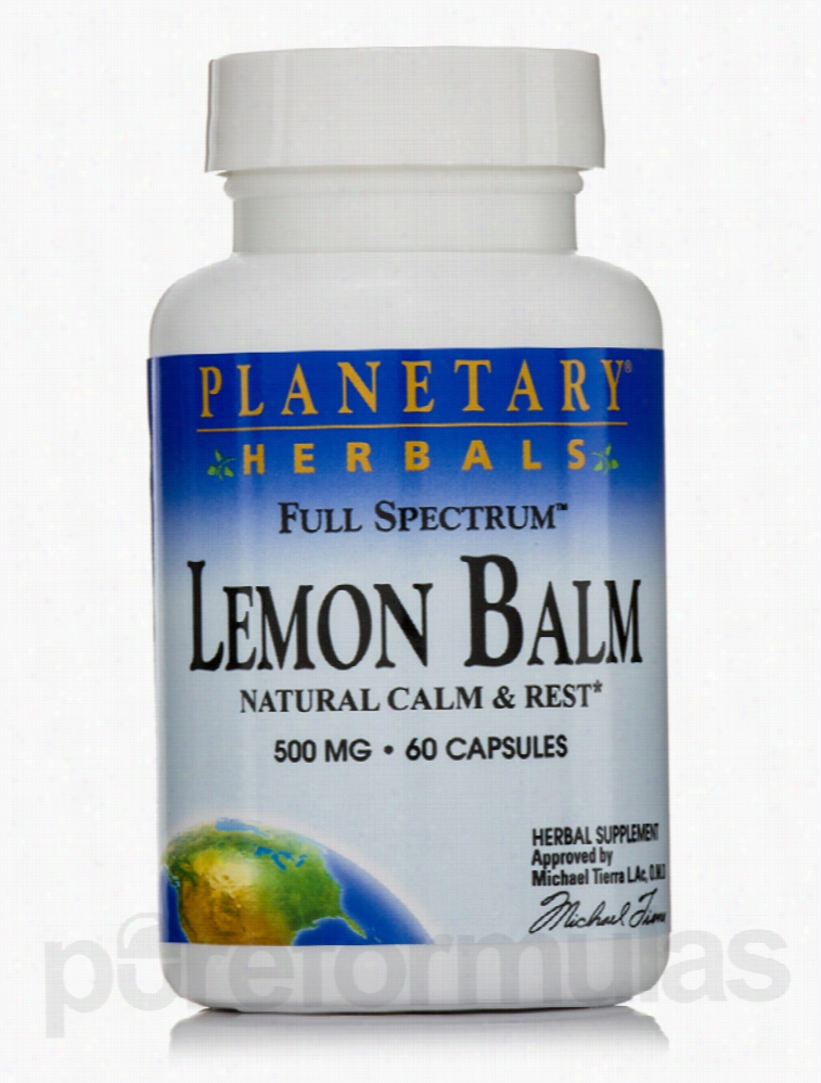 Planetary Herbals Herbals/Herbal Extracts - Full Spectrum Lemon Balm