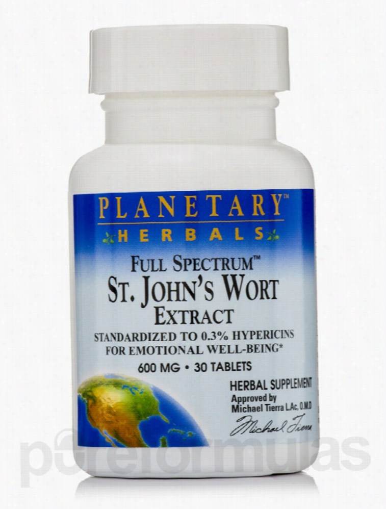 Planetary Herbals Herbals/Herbal Extracts - Full Spectrum St. John's