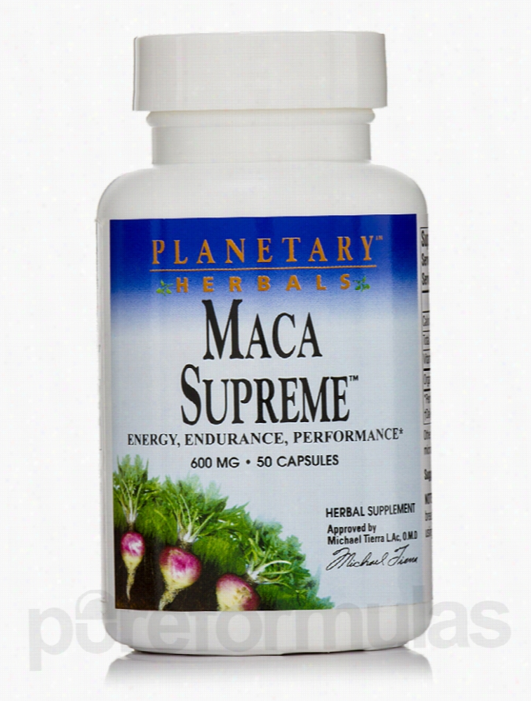 Planetary Herbals Herbals/Herbal Extracts - Maca Supreme 600 mg - 50