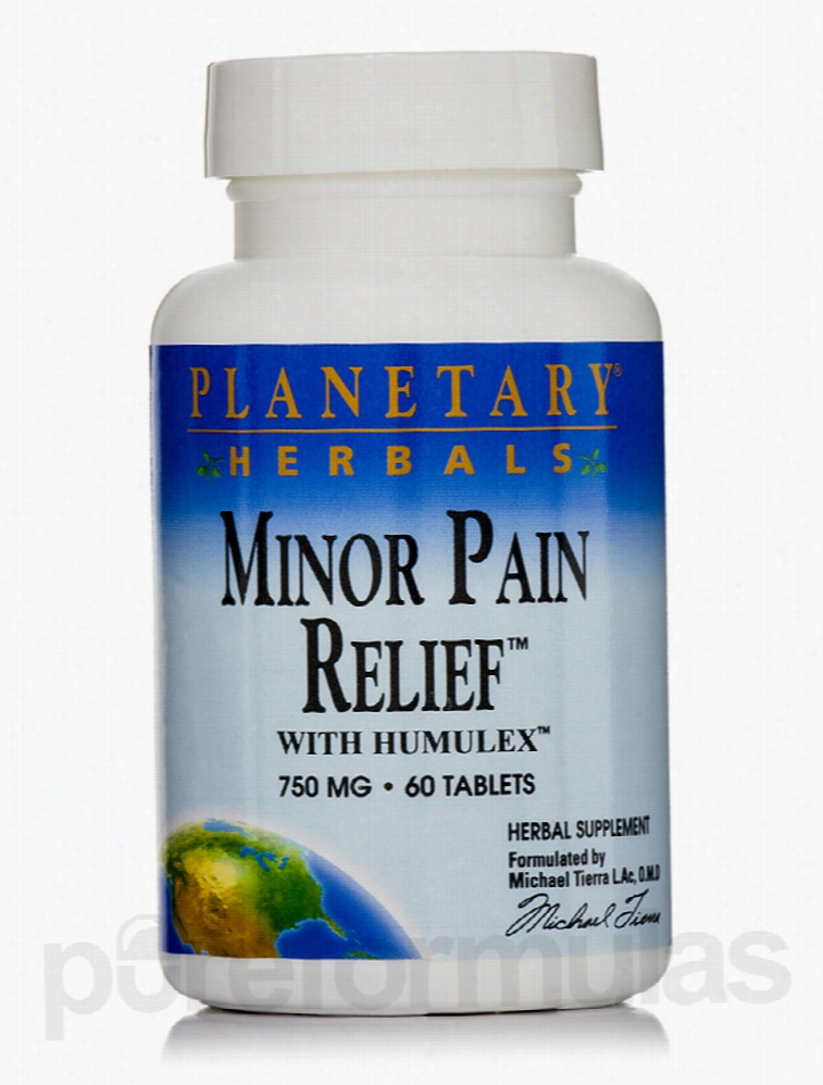 Planetary Herbals Herbals/Herbal Extracts - Minor Pain Relief with