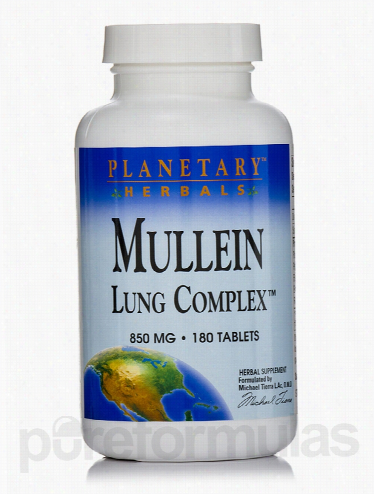 Planetary Herbals Herbals/Herbal Extracts - Mullein Lung Complex 850