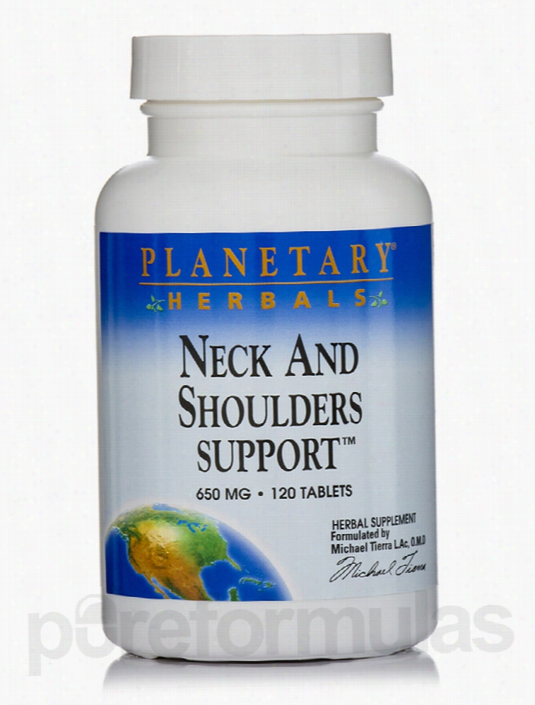 Planetary Herbals Herbals/Herbal Extracts - Neck And Shoulder Support
