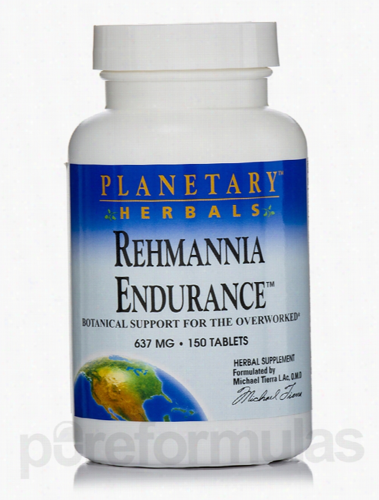 Planetary Herbals Herbals/Herbal Extracts - Rehmannia Endurance 637 mg
