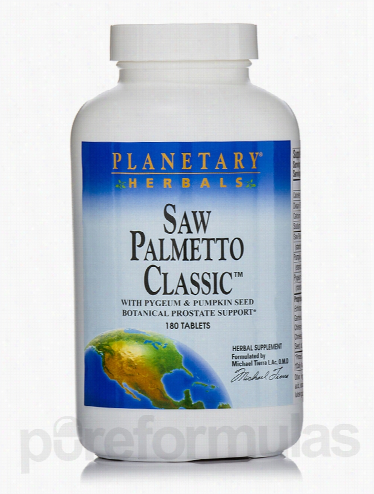 Planetary Herbals Herbals/Herbal Extracts - Saw Palmetto Classic - 180