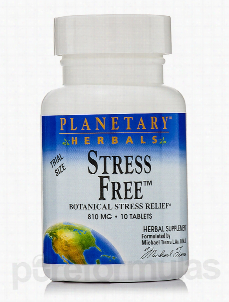 Planetary Herbals Herbals/Herbal Extracts - Stress Free 810 mg - 10