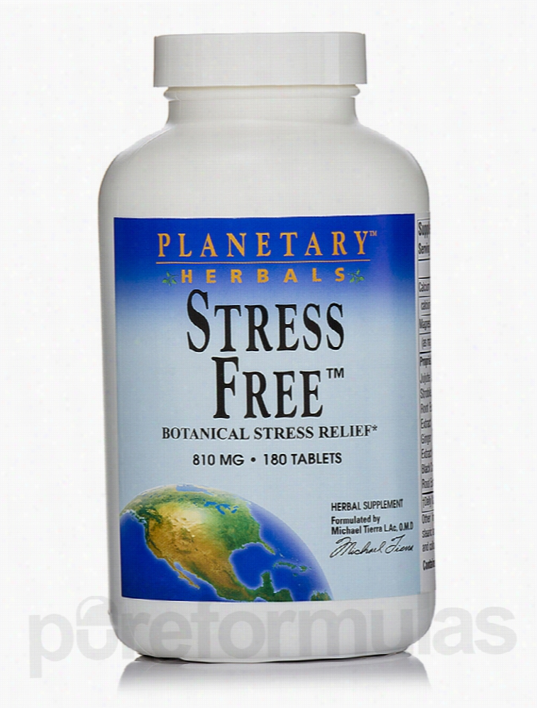 Planetary Herbals Herbals/Herbal Extracts - Stress Free 810 mg - 180