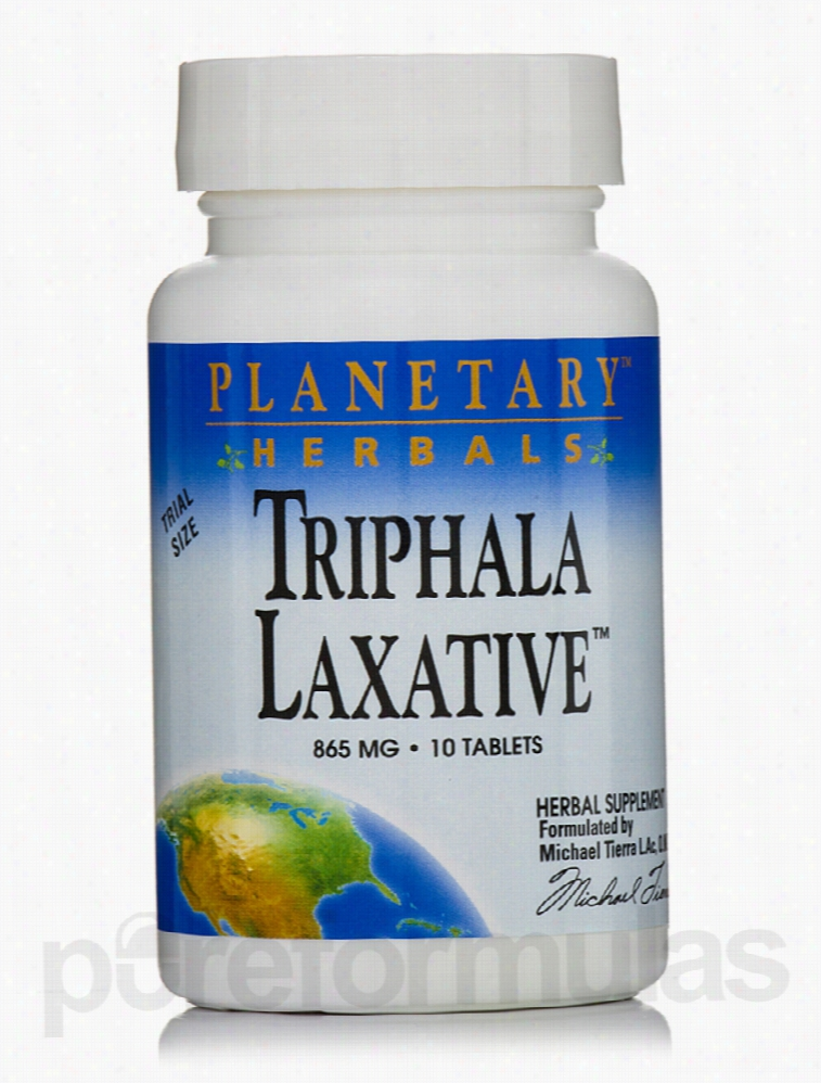 Planetary Herbals Herbals/Herbal Extracts - Triphala Laxative 865 mg -