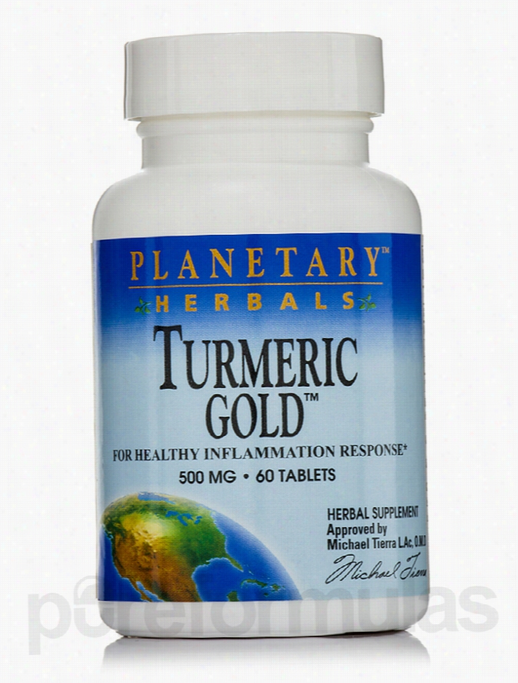 Planetary Herbals Herbals/Herbal Extracts - Turmeric Gold 500 mg - 60
