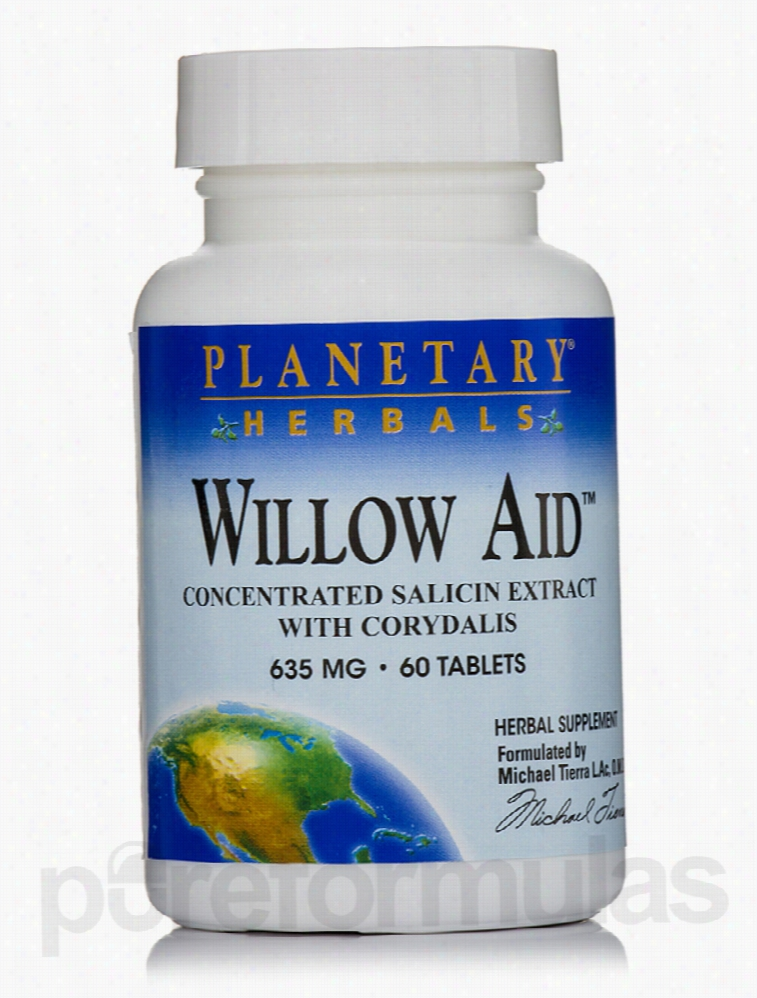 Planetary Herbals Herbals/Herbal Extracts - Willow Aid 635 mg - 60