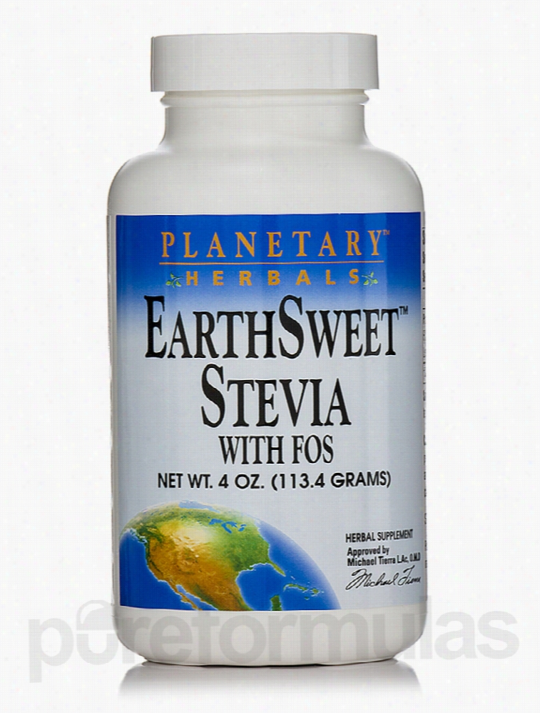 Planetary Herbals Metabolic Support - EarthSweet Stevia with FOS - 4