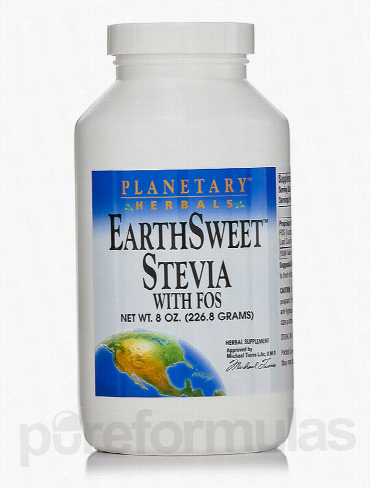 Planetary Herbals Metabolic Support - EarthSweet Stevia with FOS - 8